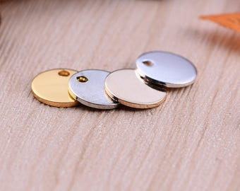 Nickel Free -  High Quality Round Brass Lovely Charm / Pendant -- PA250