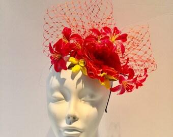 NYC Fascinator -Wedding Hat- British Fascinators -High Tea- Kentucky Oats- Conservatory Luncheon- Derby Fascinator- Wedding- Hat