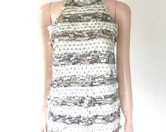 Mod Saks 5th Ave sequin go go top   size small   all wool