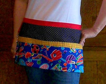 Sports Gear Tool Belt Apron - Soccer Mom Snack Bar Apron - One Size