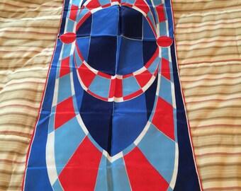 Vera Geometric nautical colors Scarf