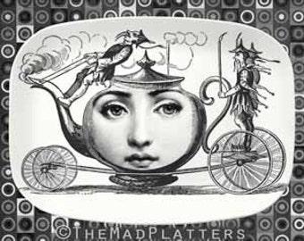 tea party time Cavalieri melamine platter