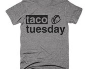 BLACK FRIDAY SALE Taco Tuesday T shirt Funny Taco Mexican Food Tri Blend Tee