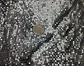 Beautiful Silver Coloured Metal Mesh Fabric, Like Glomesh 45x120cm, Free Postage!