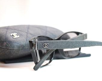 Authentic Chanel Denim Tinted Glasses