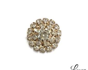 Stunning 20mm GOLD Rhinestone Embellishments with a Flat Back - DIY Wedding Invitations - Bulk Rhinestone Buttons - MR558 Light Rose Gold