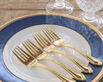Gold Salad Forks Set of 4 International Matching Forks Gold Electroplate Wedding Decor, Shop the Collection