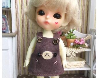 "Lati White Outfit : ""Happy Brown Bear Dress"" (Dress)"