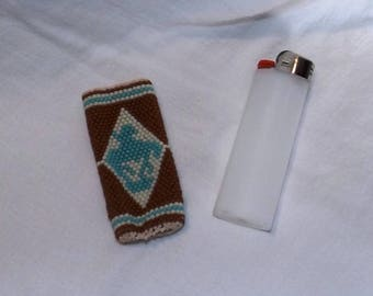 End of the Trail Hand Beaded Southwestern Native American Style Lighter Cover