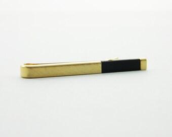 Gold Onyx Tie Bar - TT224 - Vintage Tie Bar