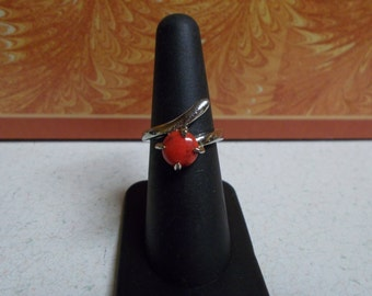 Stunning Red Turquoise Ring-Size 6 -R671