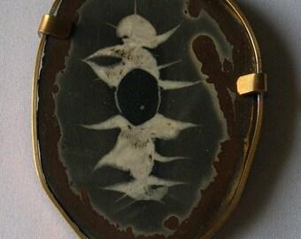 Broche septaria du Maroc