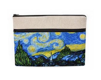 Women's Laptop Case, iPad Pro 12.9 Sleeve, Macbook 13 Bag, Padded Computer Case, Surface Pro Cover Zipper - Van Gogh Starry Night