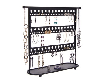 Earring Holder Stand Jewelry Organizer Necklace Storage Rack Earring Organizer Display a great way to declutter your jewelry box & drawers