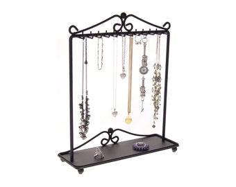 Necklace Holder Stand Jewelry Organizer Storage Rack Necklace Organizer Display a great way to declutter your jewelry box & drawers