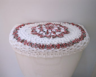 Holiday Toilet Tank Lid Cover or Toilet Seat Cover  - merrier multi/white (TTL24A or TSC24A)