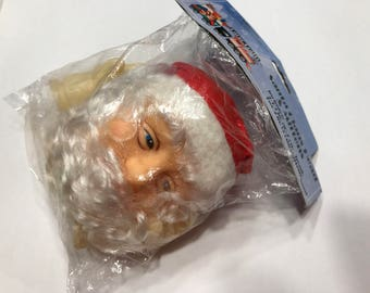 vintage mr. claus head and hands puppet parts, 5-10 cm (BR13)