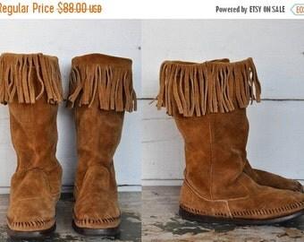 minnetonka tall boots knee high laceup blackitalavintage