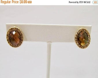On Sale Retro Golden Crystal and Rhinestone Earrings Item K # 39