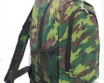 Backpack, camouflage, personalized, back to school