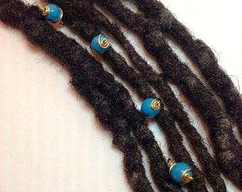 Turquoise Hair Pin Set Bead Jewelry Locs, Dreadlocks, Braids and Twists