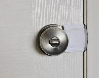 All White Door Silencer door muff baby room door bumper crochet door & Door stopper | Etsy