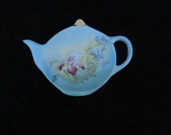 Tea Bag Holder: Hand Decorated Porcelian
