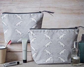 Patterdale Toiletry Bag - Patterdale Wash Bag - Patterdale Terrier - Patterdale Gift - Large Cosmetic Bag - Travel Bag - Gifts for Her