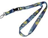 DutchArt Van Gogh Starry Night Premium Keychain Holder Lanyard