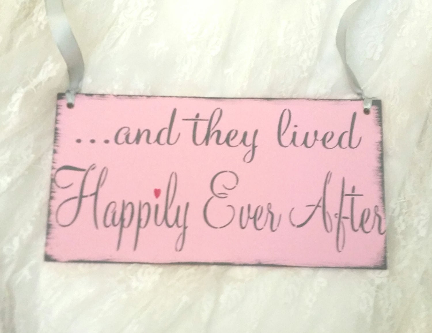 Wedding Sign, And they lived Happily ever after, wedding gift, gift ...