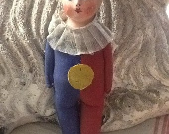 Vintage 1930's Composition Clown Doll