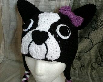 Boston Terrier Crochet Hat Pattern