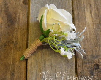 Wedding boutonniere etsy country style boutonniere garden boutonniere wedding boutonniere silk boutonniere wedding buttonhole junglespirit Images