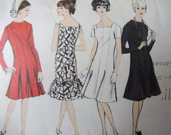 vintage 1960s Vogue sewing pattern 6578 misses dress size 14