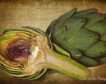 Artichokes, Food Photography, Kitchen Art, Kitchen Decor, Photography, Fine Art Photography,