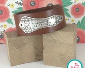 Whatever is Lovely Leather Chick Cuff