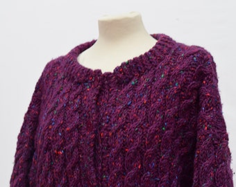 Rich Purple Knitted Cardigan (DOWN FROM 29.99)