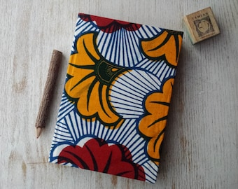 Large Hardcover African print Journal Notebook Sketchbook Jotter - A5 - cartridge paper - 90 pages 140 gsm