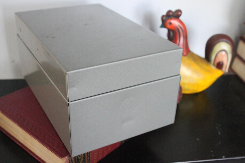 Kleiderstander Weis Metall ~ Vintage weis metal index card file box storage