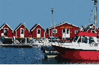 Needlepoint Canvas: Going Fishing