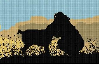 Needlepoint Kit or Canvas: Dog Owner
