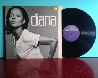 Diana Ross Diana Vinyl Record Album LP 1980 Gatefold Soul Dance Disco Music Supremes Very Good + Condition Vintage