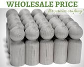 100x MEDium Wooden PEG DOLLS Bulk *Wholesale Price* US+Australia only/ Blank Wood peg dolls -'brother' size > Waldorf craft Montessori craft