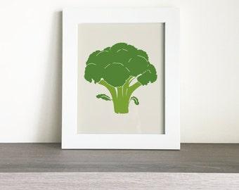 Printable Broccoli Kitchen Wall Art