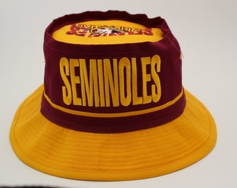 Deadstock FLORIDA STATE UNIVERSITY Bucket Hat 1980's Seminoles Vintage Officially Licensed College ncaa fsu