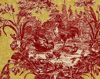 Custom order for Carin Red and yellow French toile chandelier lampshades wall sconce shades