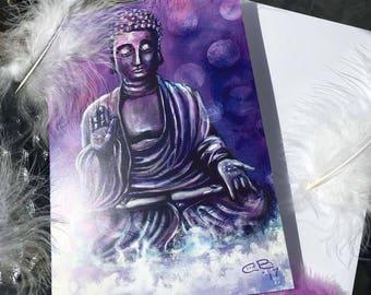 Serenity Buddha Greeting card