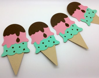 ice cream party, ice cream cone banner, banner, candy party, sweets, candy decor, carnival party, sundae bar, sundae party, ice cream decor