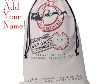 Personalized Ready to Gift Santa Sack with Name