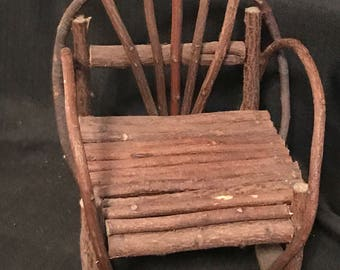 Vintage Doll Chair Rustic Twig Doll Chair